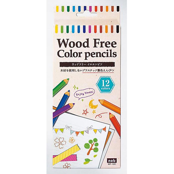 その他 【240個セット】ウッドフリー色鉛筆12色セット 2214482