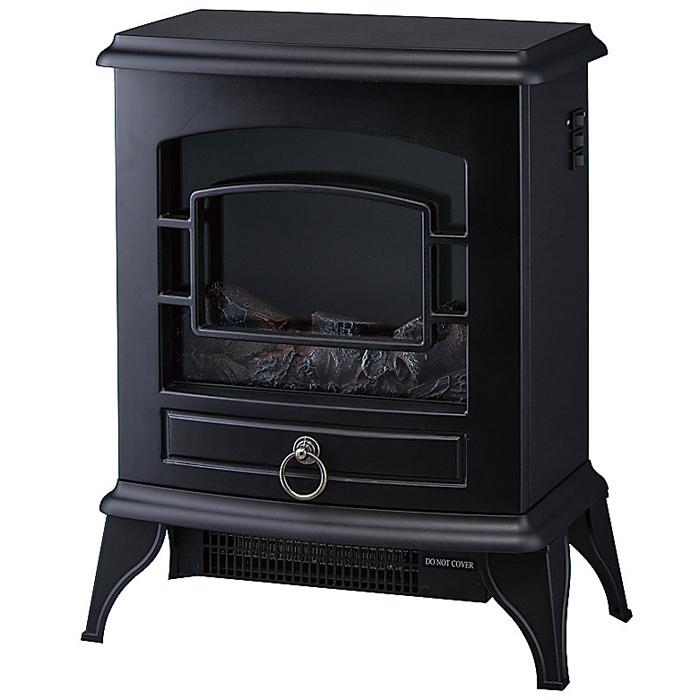 その他 【5個セット】ノスタルジア 暖炉型ヒーター1台(ブラック) 2214540