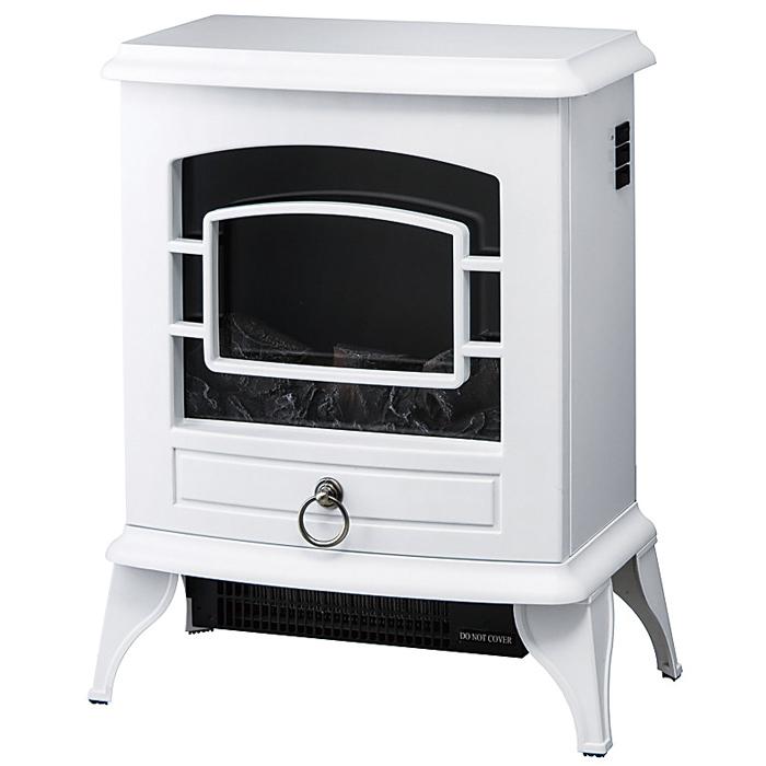 その他 【5個セット】ノスタルジア 暖炉型ヒーター1台(ホワイト) 2214541