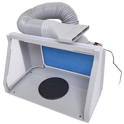 サンコー LEDライト付パワフルファン塗装ブース デラックス BRUSHBT5