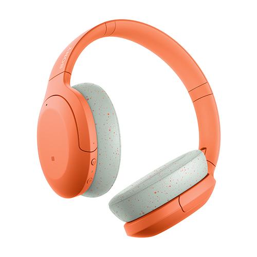 ソニー ハイレゾワイヤレス、Bluetooth対応ヘッドホン オレンジ WH-H910N-D