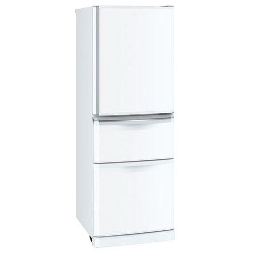 三菱電機 335L 3ドア冷蔵庫 右開きタイプ パールホワイト MR-C34E-W