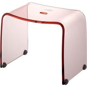 その他 リス インテリアアクリルバスチェア フランクタイム 風呂椅子 L クリアピンク ds-2253371