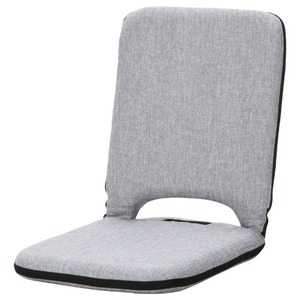 その他 座椅子/パーソナルチェア 【グレイ】 幅40cm リクライニング 『2 PACK シオン』 【4個セット】【代引不可】 ds-2257799