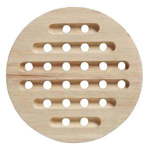 その他 (まとめ)鍋敷き 木製 木目鍋敷 (丸) 【96個セット】 ds-2259214