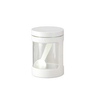 その他 (まとめ) ガラスポット/調味料入れ ミニ 【ホワイト】 470ml スプーン ガラス容器 キッチン用品 『フォルマ』 【45個セット】 ds-2259598
