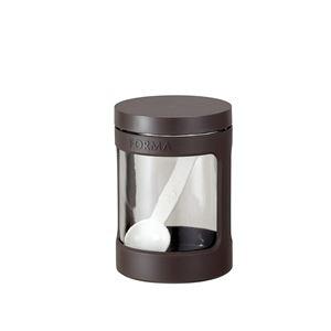 その他 (まとめ) ガラスポット/調味料入れ ミニ 【ブラウン】 470ml スプーン ガラス容器 キッチン用品 『フォルマ』 【45個セット】 ds-2259599