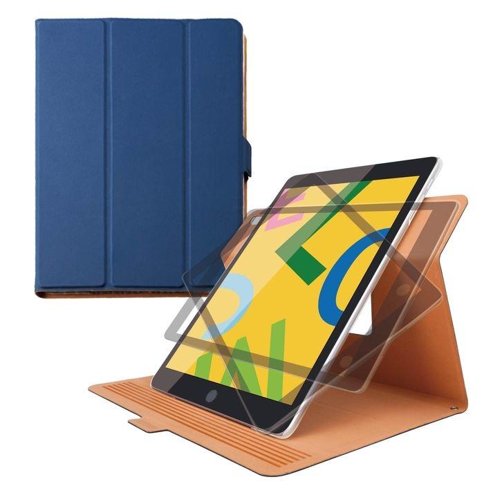 エレコム iPad 10.2 2019年モデル/フラップケース/ソフトレザー/360度回転/スリープ対応/ネイビー TB-A19RWVSMNV