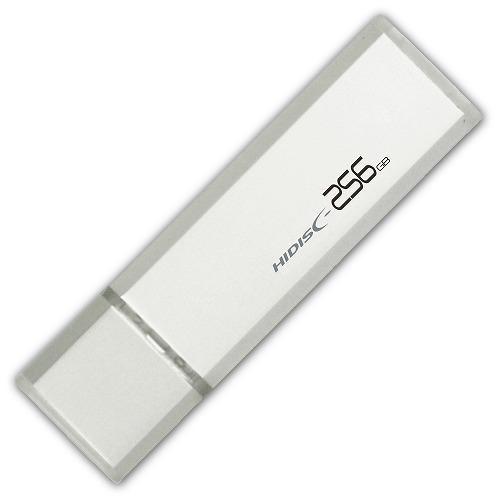 hidisc USB 3.0 フラッシュドライブ 256GB シルバー キャップ式 HDUF114C256G3