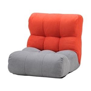 その他 ソファー座椅子/フロアチェア 【レッド/グレー】 北欧風 ツートーンカラー リクライニング 『ピグレットJrノルディック1P』 ds-2251933