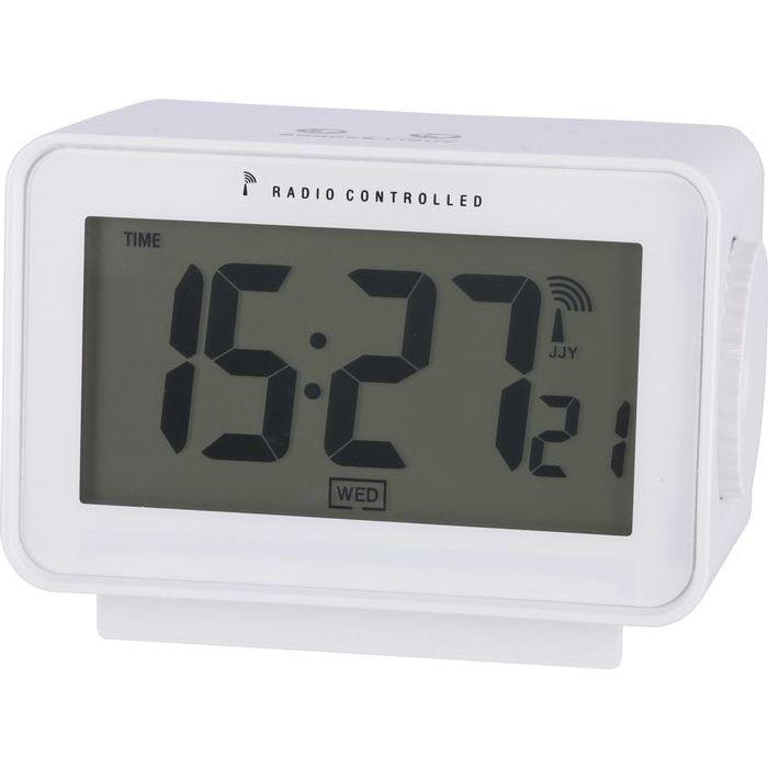 不二貿易 電波置時計アリア WH JS2653RC-J【6個セット】 FJ-27325
