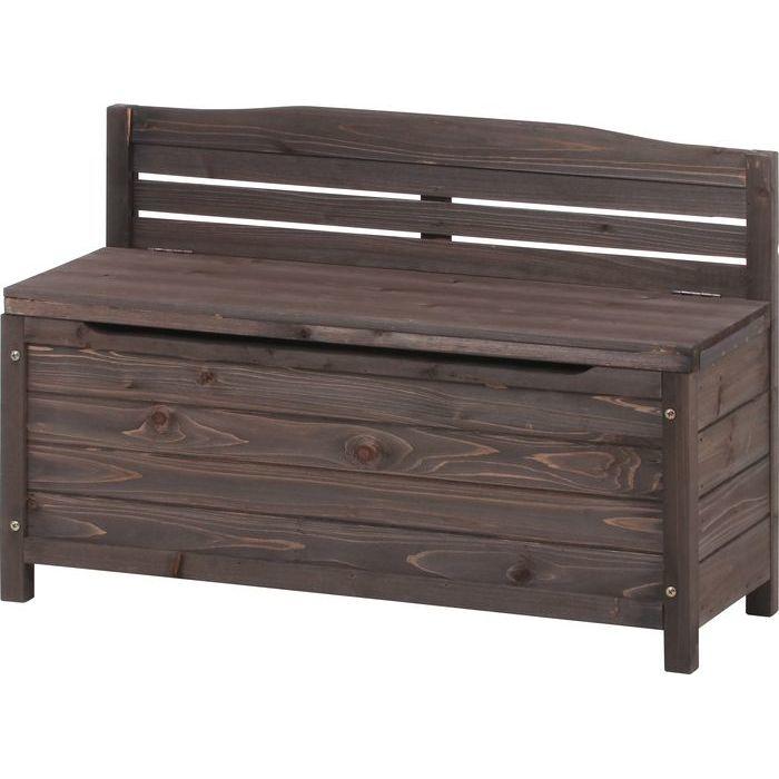 不二貿易 木製収納ベンチ SD18-289 FJ-37289【納期目安:1/下旬入荷予定】