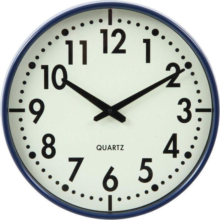 不二貿易 掛時計 アリス Φ37cm BL EG6965-BM82【6個セット】 FJ-99034
