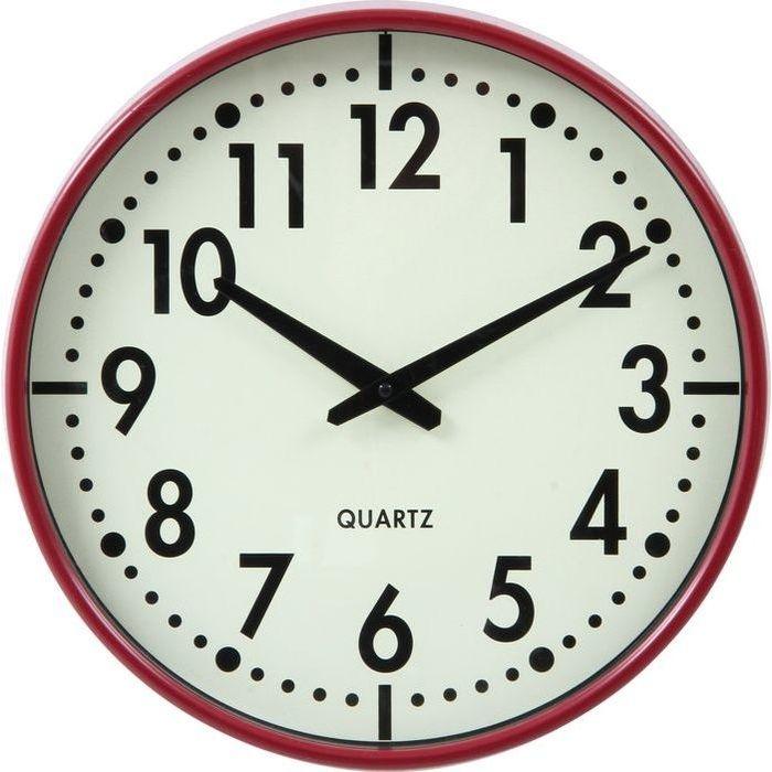 不二貿易 掛時計 アリス Φ37cm RD EG6965-BM82【6個セット】 FJ-99035