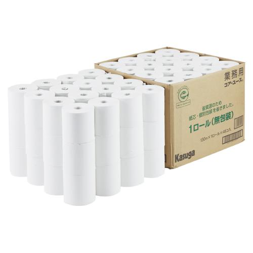 その他 春日製紙工業 無包装コアユース130トイレロール48入 4971840271010