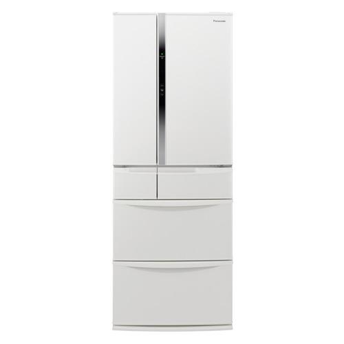 パナソニック 501L エコナビ搭載冷蔵庫 フレンチ6ドア ハーモニーホワイト NR-FVF505-W