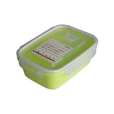 岩崎工業 保存容器 スマートフラップ&ロックス 900ml(L) 1P グリーン 60個セット【沖縄・離島配達不可】 4901126316258-60