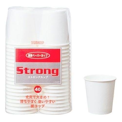 サンナップ 紙コップ 250ml 40個入 ストロングカップ 30個セット【沖縄・離島配達不可】 4901627033531-30