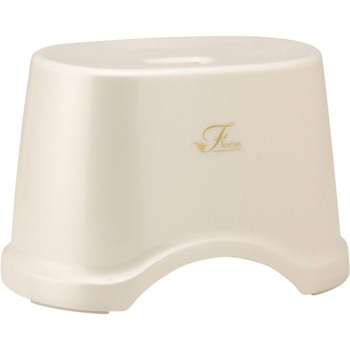 レック 風呂椅子 Florist 高さ22cm ホワイト ( バスチェア 風呂 いす ) 12個セット【沖縄・離島配達不可】 4903320756182-12