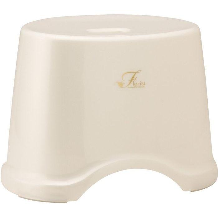 レック 風呂椅子 Florist 高さ25cm ホワイト ( バスチェア 風呂 いす ) 12個セット【沖縄・離島配達不可】 4903320756281-12