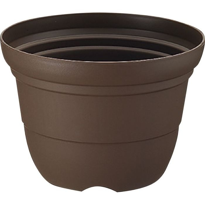 リッチェル カラーバリエ 輪鉢 7号 コーヒーブラウン (プラスチック製 植木鉢 プラ鉢) 60個セット【沖縄・離島配達不可】 4973655746745-60
