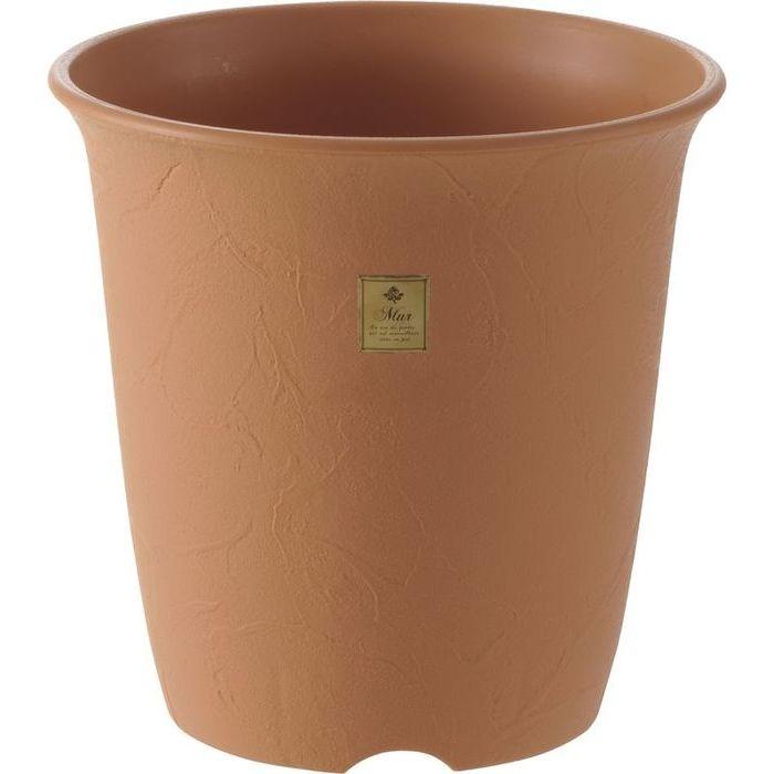 リッチェル 植木鉢 ムール ハイポット7号 ブラウン 40個セット【沖縄・離島配達不可】 4973655795712-40