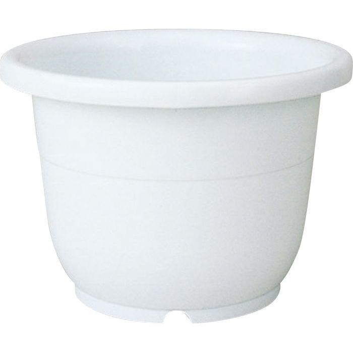 リッチェル 植木鉢 輪鉢 8号 ホワイト 60個セット【沖縄・離島配達不可】 4973895716812-60