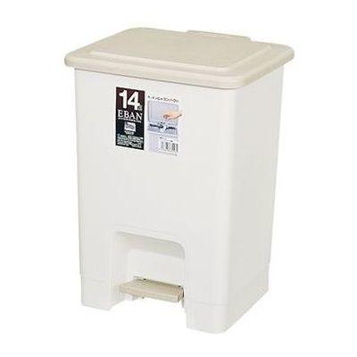 アスベル ゴミ箱 14L エバン ペダルペール 角型 ベージュ 16個セット【沖縄・離島配達不可】 4974908631535-16