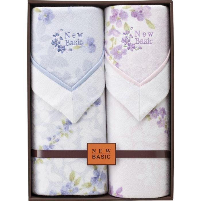 その他 ニューベーシック 四方額付き綿毛布(毛羽部分)2P RNB-4102(包装・のし可)(包装・のし可) 4530807047008