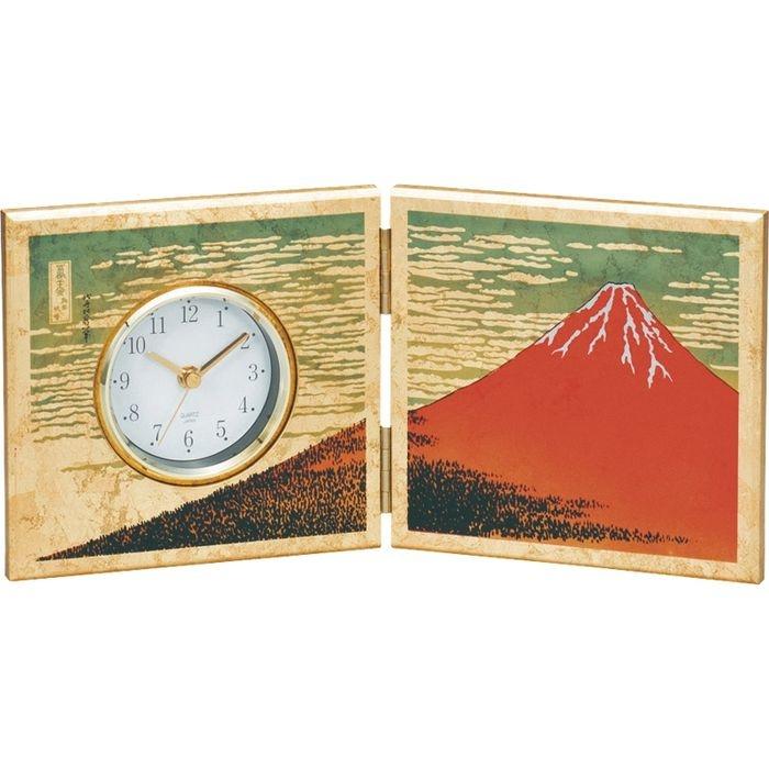 その他 屏風時計(金箔 赤富士) 16851(包装・のし可)(包装・のし可) 4968982168513