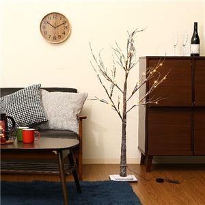 その他 モダン クリスマスツリー 【高さ120cm】 ブラウン 『LEDスノーツリー』 〔リビング 店舗 什器 備品〕 ds-2261879