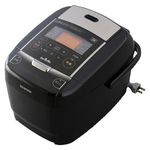 アイリスオーヤマ IHジャー炊飯器 3合炊き ブラック KRC-IC30-B【納期目安:約10営業日】