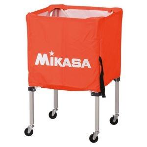 その他 MIKASA(ミカサ)器具 ボールカゴ 箱型・小(フレーム・幕体・キャリーケース3点セット) オレンジ 【BCSPSS】 ds-2262573