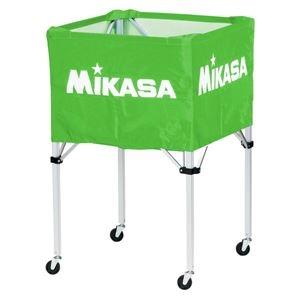 その他 MIKASA(ミカサ)器具 ボールカゴ 箱型・大(フレーム・幕体・キャリーケース3点セット) ライトグリーン 【BCSPH】 ds-2262584