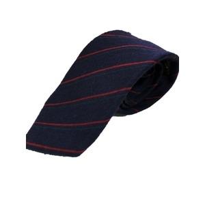 その他 グランネクタイ 西陣手縫い仕立て シルク/ウールネクタイ レジメンタル・トラッド&ネイビー・グリーン・レッド ds-2267427