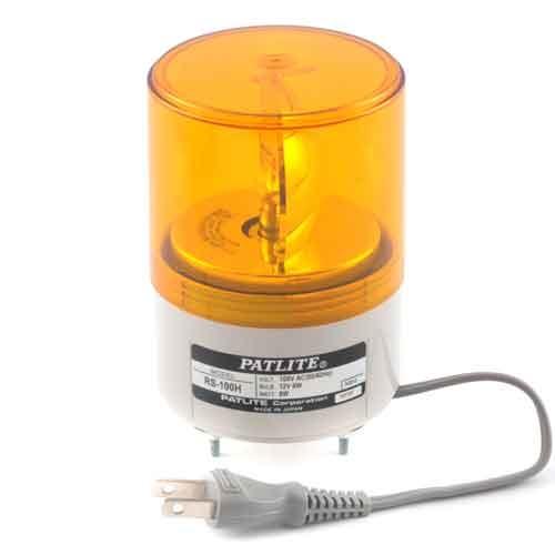 パトライト 超小型回転灯 黄 (RS-100H) 4938766000162