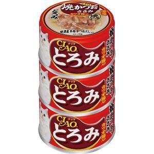 その他 (まとめ)CIAO とろみ 焼かつお ささみ カツオ節入り 80g×3缶 (ペット用品・猫フード)【×15セット】 ds-2267220