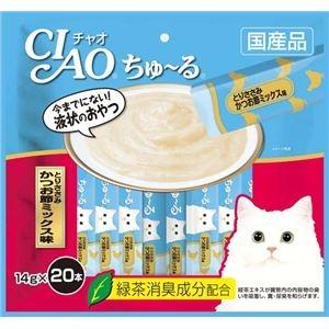 その他 (まとめ)CIAO ちゅ~る とりささみ かつお節ミックス味 14g×20本 (ペット用品・猫フード)【×16セット】 ds-2267340