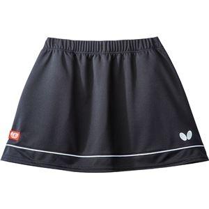その他 Butterfly(バタフライ) 卓球ゲームスカート RETIA SKIRT レティア・スカート レディース用 ブラック×ホワイト L ds-2267678