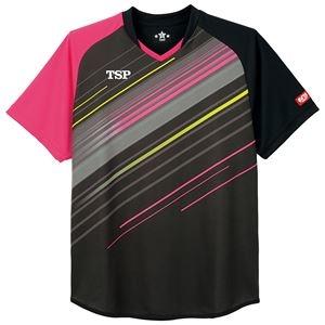 その他 TSP(ティーエスピー) 卓球アパレル ゲームシャツ ピオネーラシャツ ブラック 2XS ds-2267874