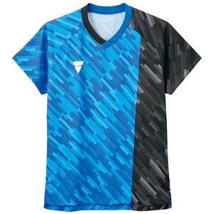 その他 TSP(ティーエスピー) 卓球ウェア ゲームシャツ V-GS920 ブルー M ds-2267905