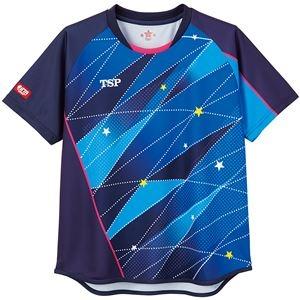 その他 TSP(ティーエスピー) 卓球アパレル ゲームシャツ レディスフリッシュシャツ ネイビー XL ds-2267946