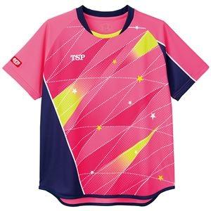 その他 TSP(ティーエスピー) 卓球アパレル ゲームシャツ レディスフリッシュシャツ ピンク 2XS ds-2267949