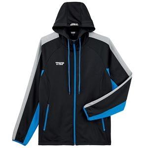 その他 TSP(ティーエスピー) 卓球ウェア ウォームアップ TJ-191ジャケット ブラック×ブルー 2XL ds-2267974