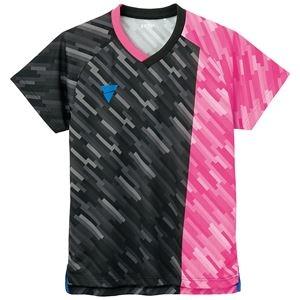 その他 TSP(ティーエスピー) 卓球ウェア ゲームシャツ V-GS920 ピンク 2XL ds-2268046