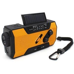 その他 キヨラカ ソーラー手回しLEDラジオ充電器「助かる君」 QQ-T01 ds-2269002
