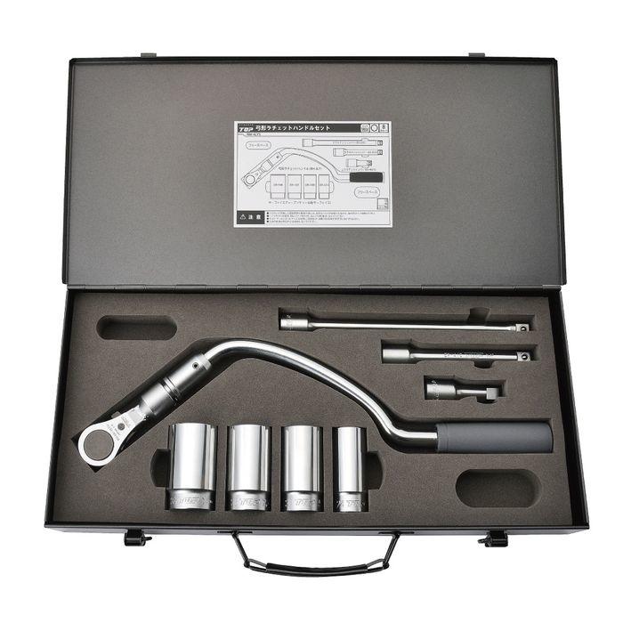トップ工業 弓型ラチェットハンドルセット RH-4LYS 4975180389831