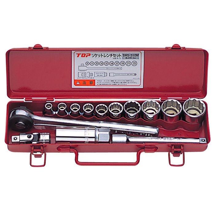 トップ工業 ソケットレンチセット(差込角9.5) SWS-310M 4975180780508