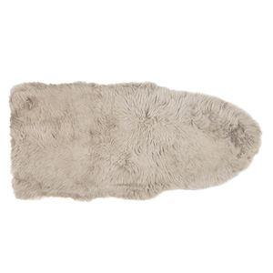 その他 ニュージーランド産 天然ムートンの1.5匹 ラグマット 【約60×130cm ブラウン】 表面:羊毛皮100% 吸水性 放湿性 『M-511-F』 ds-2271252