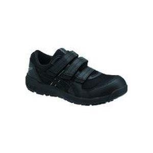 トラスコ中山 アシックス ウィンジョブCP205 ブラック/ブラック 25.0cm tr-1487546